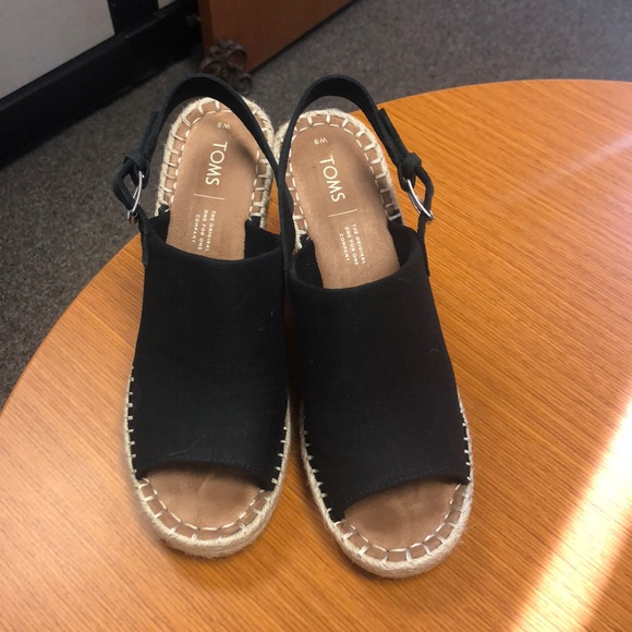 Tons Black Oxford Womens Monica Wedges